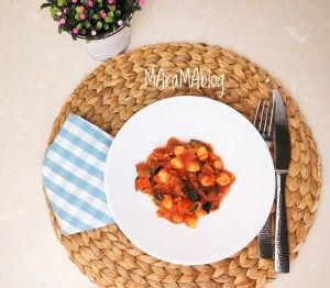 Receta saludable con garbanzos